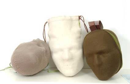 Head Hand Bag by Yael Mer