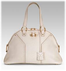 Yves Saint Laurent Large Python Muse Handbag