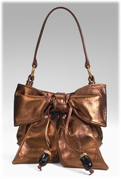 Yves Saint Laurent Metallic Bow Bag